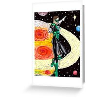 Emerald Space Cop Greeting Card