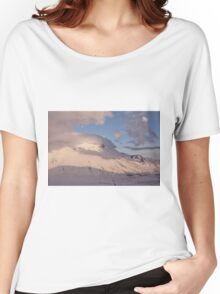 Sunset in the Sibillini Mountains and moon Women's Relaxed Fit T-Shirt