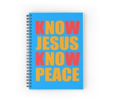 Know Jesus Know Peace Spiral Notebook