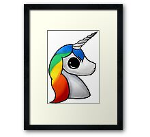 kawaii unicorn Framed Print