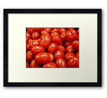 Roma Tomatoes Framed Print