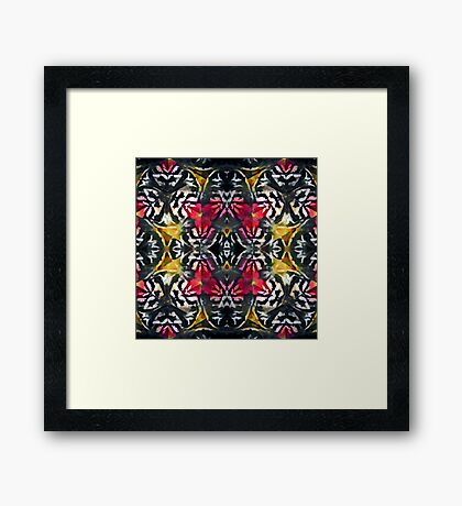 Pink and yellow kaleidoscope Framed Print