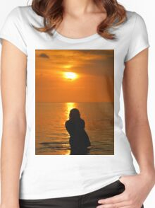 The Lonely Girl Women's Fitted Scoop T-Shirt