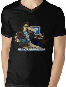 HACKERMAN Mens V-Neck T-Shirt