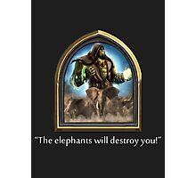 Hearthstone - Thrall Elephants Emote Photographic Print