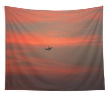 The Journey Start when Sunset Wall Tapestry