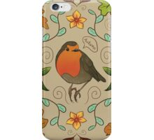 Autumn Robin Pattern iPhone Case/Skin