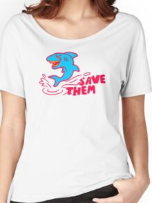 Save Them Sharks Women's Relaxed Fit T-Shirt