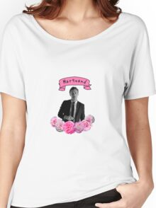 Ross Marquand Flower Design Women's Relaxed Fit T-Shirt