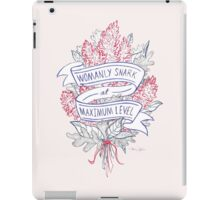 Womanly Snark iPad Case/Skin