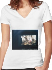 Through the viewfinder - winter blossoms Women's Fitted V-Neck T-Shirt