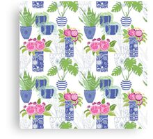 Chinoiserie Cactus Canvas Print