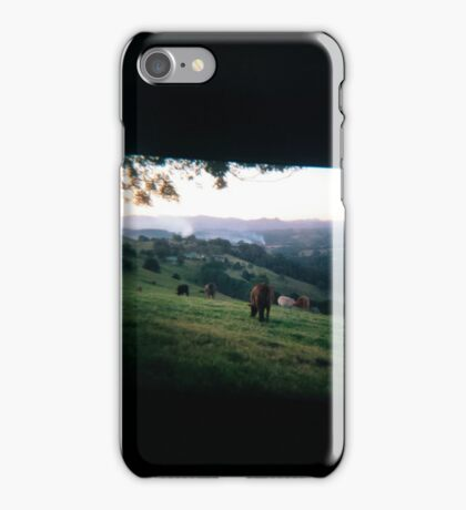 Through the viewfinder - Byron ranges iPhone Case/Skin