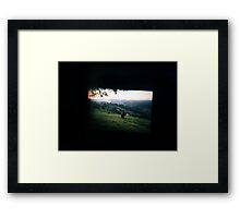 Through the viewfinder - Byron ranges Framed Print