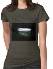 Through the viewfinder - Byron ranges Womens Fitted T-Shirt