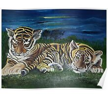 Twilight Tigers Poster