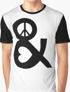 PEACE AND LOVE Party Heart Tee No War Stoner Hippie sign Ladies Symbol Graphic T-Shirt