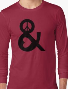 PEACE AND LOVE Party Heart Tee No War Stoner Hippie sign Ladies Symbol Long Sleeve T-Shirt