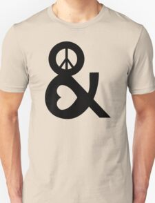 PEACE AND LOVE Party Heart Tee No War Stoner Hippie sign Ladies Symbol Unisex T-Shirt
