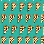 Pepperoni Pizza Passion - Teal by ToothlessDesign