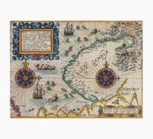 Map of the North East Passage - 1601 by Theodore de Bry One Piece - Short Sleeve
