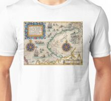 Map of the North East Passage - 1601 by Theodore de Bry Unisex T-Shirt