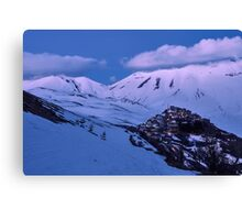 Castelluccio after the sunset Canvas Print