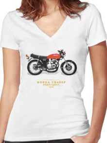 HONDA CB400F SUPERSPORT YOSHIMURA Women's Fitted V-Neck T-Shirt