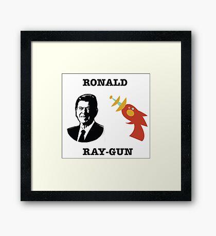 Ronald Ray-gun Framed Print