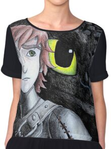 Toothless and Hiccup  Chiffon Top