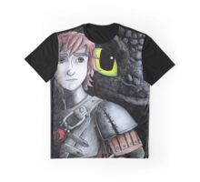 Toothless and Hiccup  Graphic T-Shirt