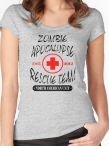 Zombie Apocalypse Rescue Team The Walking Zombies Funny Dead est Women's Fitted Scoop T-Shirt