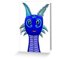 Happy water dragon Greeting Card