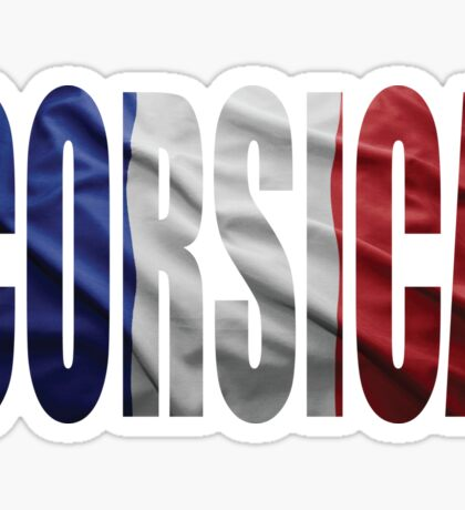 Corsica. Sticker