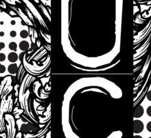 Fuck Off Grunge Punk Style Offensive Ornate Design  Sticker