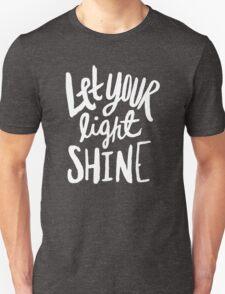 Let Your Light Shine x Rose Unisex T-Shirt