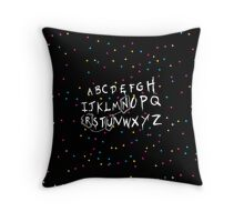 Alphabet - run! Throw Pillow
