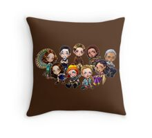 Chibi Damn Heroes Throw Pillow