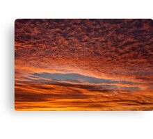 Red sunset in Senigallia Canvas Print