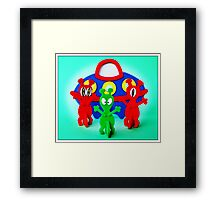 The Aliens Have Landed And they'd Like To Say Hello Framed Print