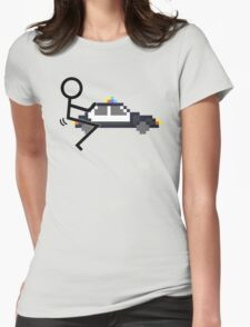 Fuck Police cool funny police car fucking icon Womens Fitted T-Shirt