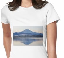 Mt. Rainier in the Morning Womens Fitted T-Shirt