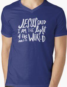 John 8: 12 x Mint Mens V-Neck T-Shirt
