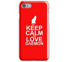 Keep Calm and Love Daemon iPhone Case/Skin