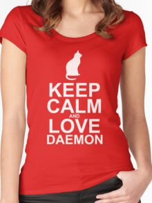 Keep Calm and Love Daemon Women's Fitted Scoop T-Shirt
