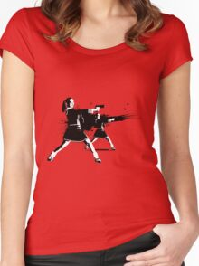 STOP IN THE NAME OF EDUCATION Women's Fitted Scoop T-Shirt