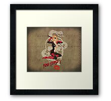 Molotov Cocktease War Pin Up Bombshell Framed Print