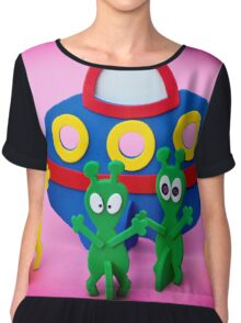 The Aliens Have Landed And they'd Like To Say Hello III Chiffon Top