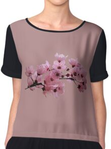 Cherry Blossoms on a Branch Chiffon Top