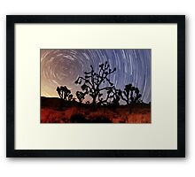 Star trails over Mojave National Preserve Framed Print
